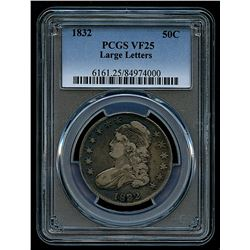 1832 Capped Bust Silver Half-Dollar Large Letters (PCGS VF 25)