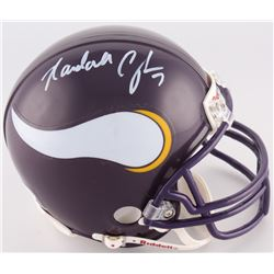 Randall Cunningham Signed Vikings Throwback Mini-Helmet (JSA COA)