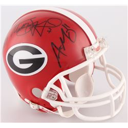 Fran Tarkenton, Aaron Murray  Matthew Stafford Multi-Signed Georgia Bulldogs Mini-Helmet Inscribed ""