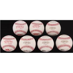 Lot of (7) Unsigned Official Rawlings World Series Baseballs