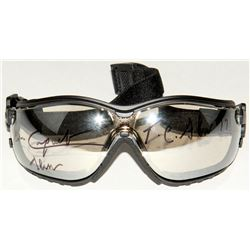 """Jean Cruguet Signed Jockey Goggles Inscribed """"T.C. Slew 77""""  """"Slew"""" (MAB Hologram)"""