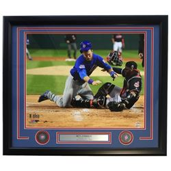 Ben Zobrist Cubs 2016 World Series Champions 22x27 Custom Framed Photo Display