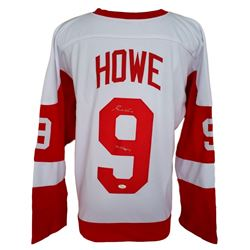 "Gordie Howe Signed Custom Pro-Style Red Wings Jersey Inscribed ""Mr. Hockey"" (JSA COA)"