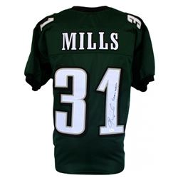 "Jalen Mills Signed Eagles Pro-Style Jersey Inscribed ""Green Goblin"" (JSA COA)"
