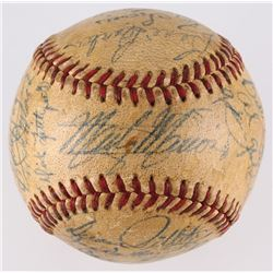 1952 Browns OAL Baseball Team Signed by (26) with Marty Marion, Roy Sievers, Bob Cain, Tommy Byrne,