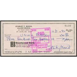 Stan Musial Signed Original Check (FSC COA)