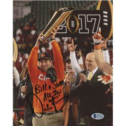 "Dabo Swinney Signed Clemson Tigers 8x10 Photo Inscribed ""All In"" (Beckett COA)"