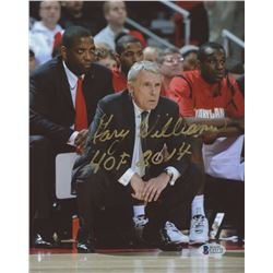 "Gary Williams Signed Maryland Terrapins 8x10 Photo Inscribed ""HOF 2014"" (Beckett COA)"