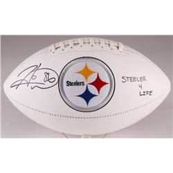 "Hines Ward Signed Steelers Logo Football Inscribed ""Steeler 4 Life"" (TSE COA)"