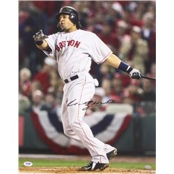 "Manny Ramirez Signed 16x20 Red Sox Photo Inscribed ""MVP"" (PSA COA)"