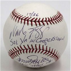 "Wade Boggs  Ryne Sandberg Signed OML Baseball Inscribed ""See Ya In Cooperstown""  ""HOF Class of 2005"""