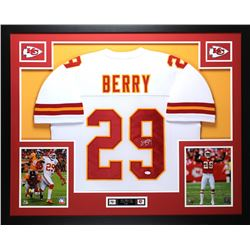 "Eric Berry Signed Chiefs 35"" x 43"" Custom Framed Jersey (JSA COA)"