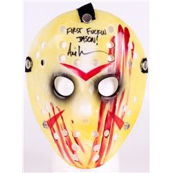 "Ari Lehman Signed Jason ""Friday the 13th"" Hockey Mask Inscribed ""First F***** Jason!"" (Beckett COA)"