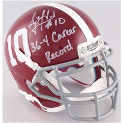 "A.J. McCarron Signed Alabama Crimson Tide Mini-Helmet Inscribed ""36-4 Career Record"" (Radtke COA)"