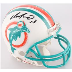 Jim Langer Signed Dolphins Mini Helmet (Upper Deck COA)