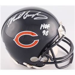 "Mike Singletary Signed Bears Mini-Helmet Inscribed ""HOF 98""  (Radtke COA)"