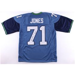 "Walter Jones Signed Seahawks Jersey Inscribed ""HOF 14"" (JSA COA)"