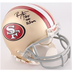 "Ronnie Lott Signed 49ers Mini-Helmet Inscribed ""HOF 2000""  ""Hitman"" (Upper Deck COA  Lott Hologram)"