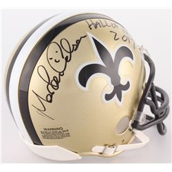 "Morten Andersen Signed Saints Mini Helmet Inscribed ""Hall Of Fame 2017"" (Radtke COA)"