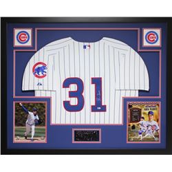 "Greg Maddux Signed Cubs 35"" x 43"" Custom Framed Jersey (MLB)"