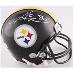 Hines Ward Signed Steelers Mini-Helmet (Radtke COA)
