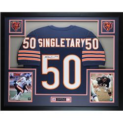 "Mike Singletary Signed Bears 35"" x 43"" Custom Framed Jersey (JSA COA)"