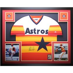 Nolan Ryan Signed Astros 35x43 Custom Framed Jersey (TriStar  Ryan Hologram)