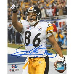Hines Ward Signed Steelers 8x10 Photo (TSE COA)