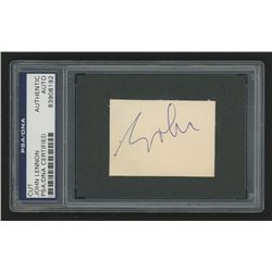 John Lennon Signed 2.25x1.5 Signature Cut (PSA Encapsulated)