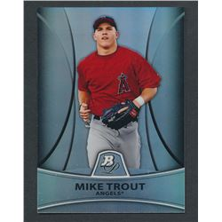 2010 Bowman Platinum Prospects Refractors Thin Stock #PP5 Mike Trout #219/999