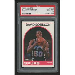 1989-90 Hoops #310 David Robinson In Action (PSA 10)