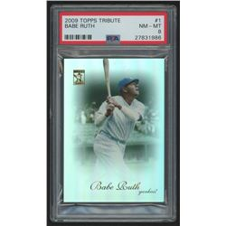 2009 Topps Tribute #1 Babe Ruth (PSA 8)