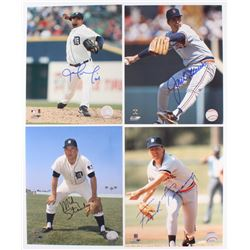 Lot of (4) Detroit Tigers Signed 8x10 Photos with Jack Morris, Mickey Stanley, Frank Tanana  Joel Zu
