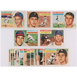 Lot of (20) 1956 Topps Baseball Cards with #37 Alex Grammas, #106 Joe Astroth, #104 Bob Lennon, #59