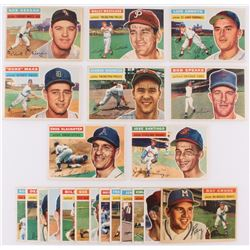 Lot of (21) 1956 Topps Baseball Cards with #109 Enos Slaughter, #59 Jose Santiago, #66 Bob Speake