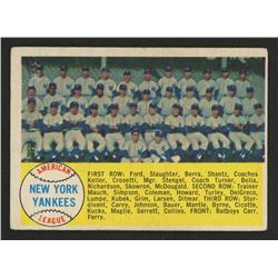 1958 Topps #246 New York Yankees TC
