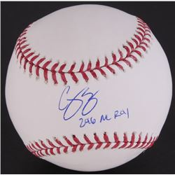 Corey Seager Signed OML Baseball Inscribed  2016 NL ROY  (Fanatics Hologram)