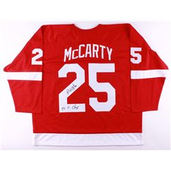 Darren McCarty Signed Red Wings Jersey Inscribed  4X SC Champ  (JSA COA)