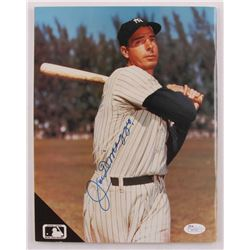 Joe DiMaggio Signed Beckett Baseball Card Monthly Magazine (JSA LOA)