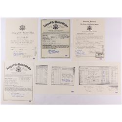 Lot of (6) Replica Military Documents Signed by Robert Hensler  Russell Angeli with Multiple Inscrip