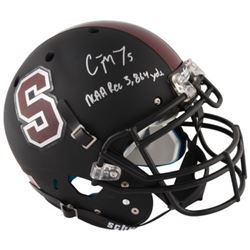 "Christian McCaffrey Signed Stanford Cardinals Full-Size Authentic On-Field Helmet Inscribed ""NCAA Re"