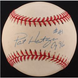 "Pat Hentgen Signed ONL Baseball Inscribed ""CY 96"" (PSA COA)"