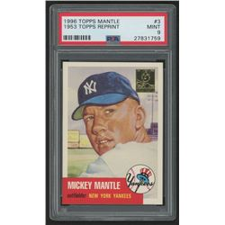 1996 Topps Mantle #3 Mickey Mantle / 1953 Topps (PSA 9)