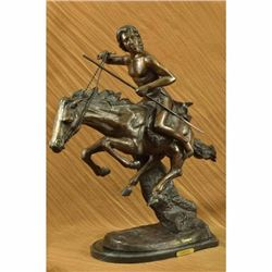 Extra Large Cheyenne Indian Warrior by Frederic Remington Bronze Sculpture Sale