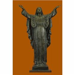 55 LBS LARGE JESUS CHURCH ISRAEL MUSEUM QUALITY BRONZE