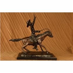 PONY EXPRESS COWBOY BOB BRONZE SCULPTURE