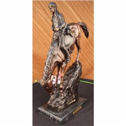 SIGNED REMINGTON MOUNTAIN MAN BRONZE SCULPTURE OLD WEST WESTERN INDIAN