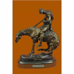 Bronze Sculpture Indian Man with Spear on Horse by Fraser Art Deco Western Gift