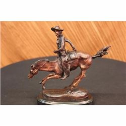 FREDERIC REMINGTON Bronze Arizona Cowboy Horse Sculpture Signature Cast in Base
