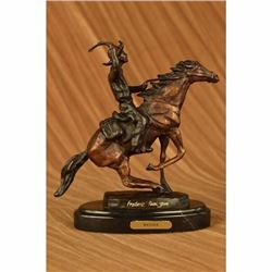 Remington Seasoned Cowboy on Horse Western Old West Bronze Sculpture Statue SALE